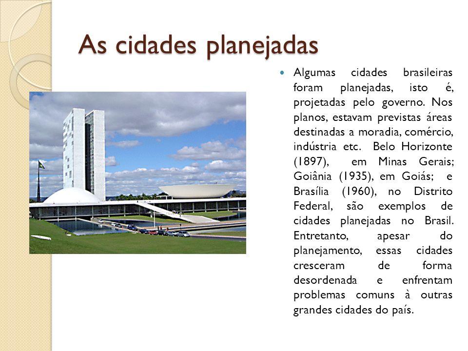 As cidades planejadas