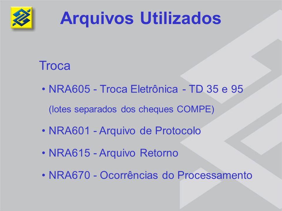 Arquivos Utilizados Troca NRA605 - Troca Eletrônica - TD 35 e 95