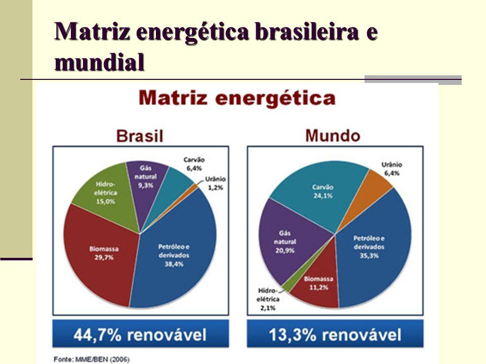 Matriz energética brasileira e mundial