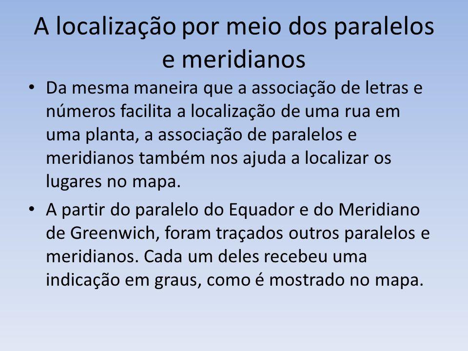 A localização por meio dos paralelos e meridianos