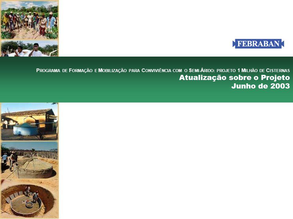 PROGRAMA DE FORMAÇÃO E MOBILIZAÇÃO PARA CONVIVIÊNCIA COM O SEMI-ÁRIDO: PROJETO 1 MILHÃO DE CISTERNAS Atualização sobre o Projeto Junho de 2003