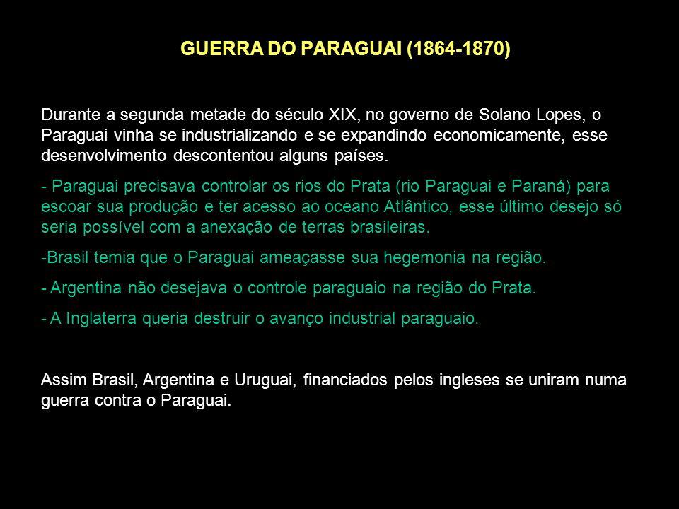 GUERRA DO PARAGUAI (1864-1870)