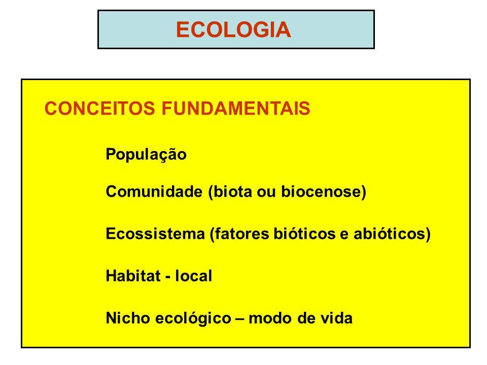 ECOLOGIA CONCEITOS FUNDAMENTAIS População