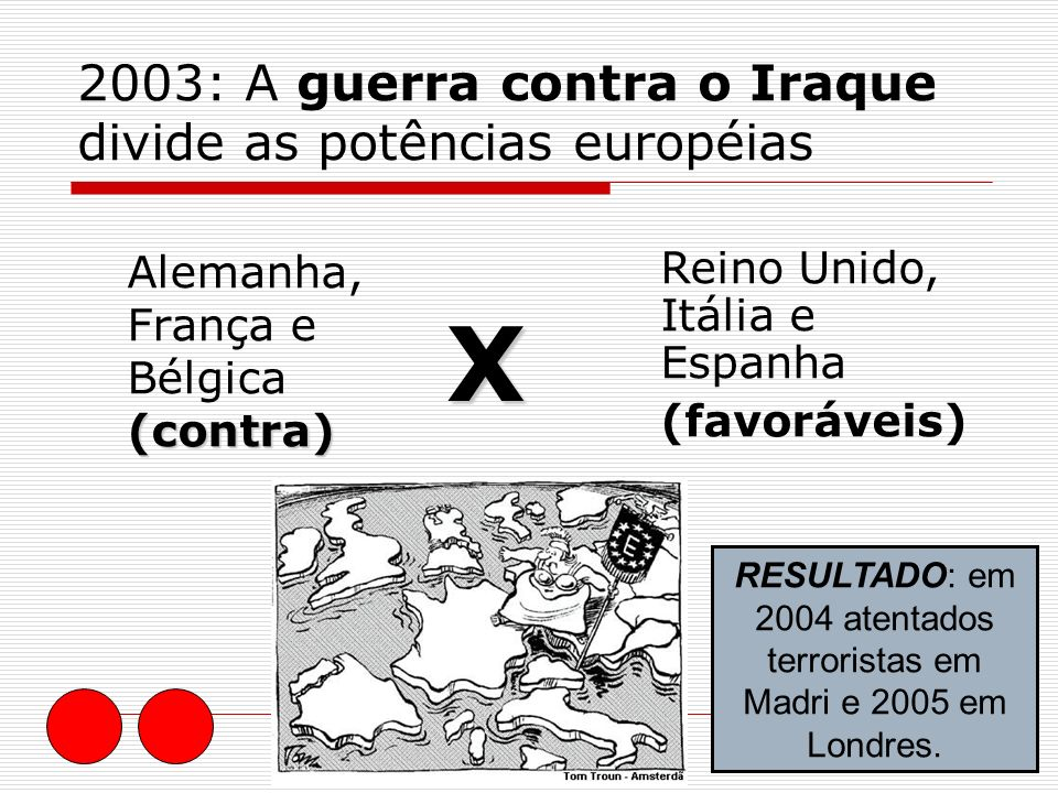 2003: A guerra contra o Iraque divide as potências européias