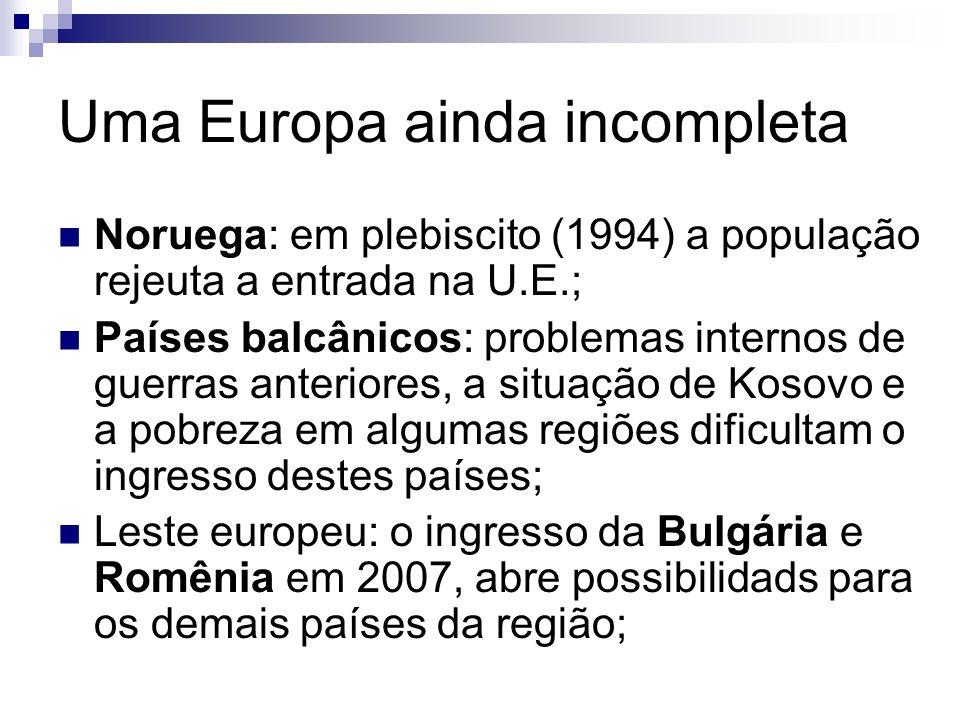 Uma Europa ainda incompleta