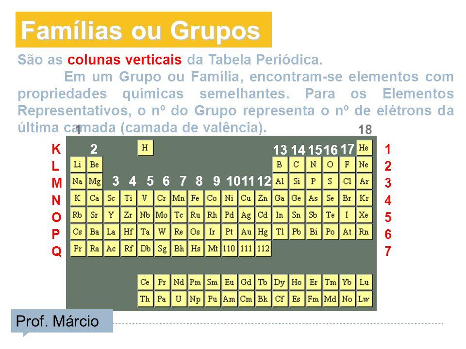 Famílias ou Grupos Prof. Márcio