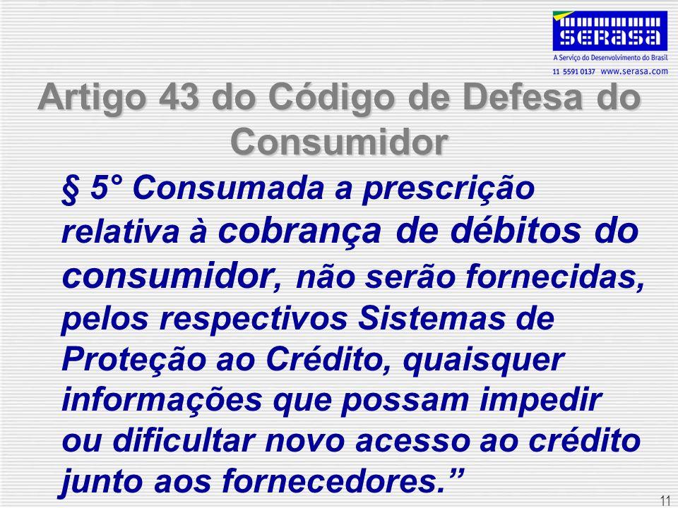 Artigo 43 do Código de Defesa do Consumidor