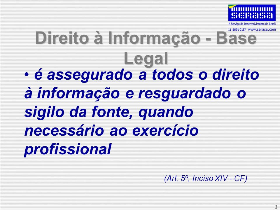Direito à Informação - Base Legal