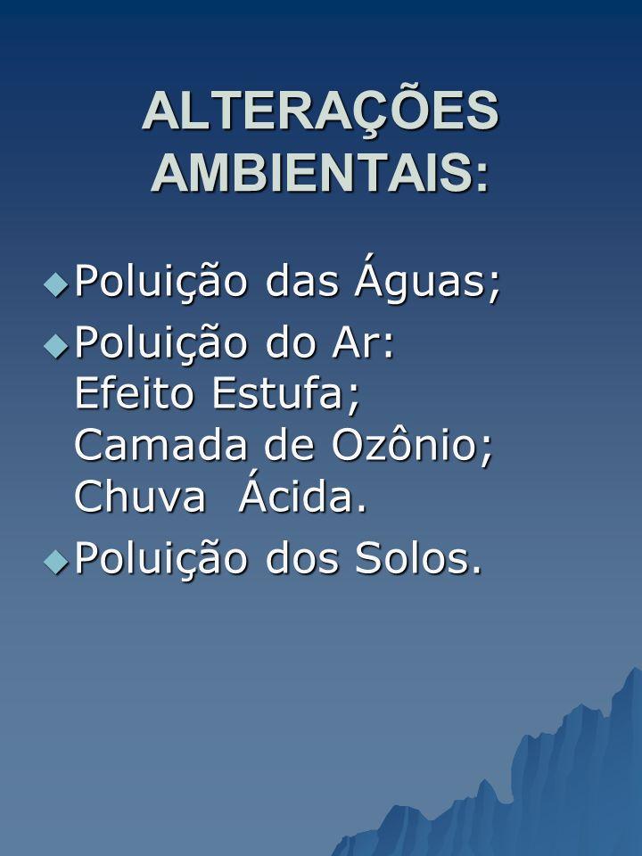 ALTERAÇÕES AMBIENTAIS: