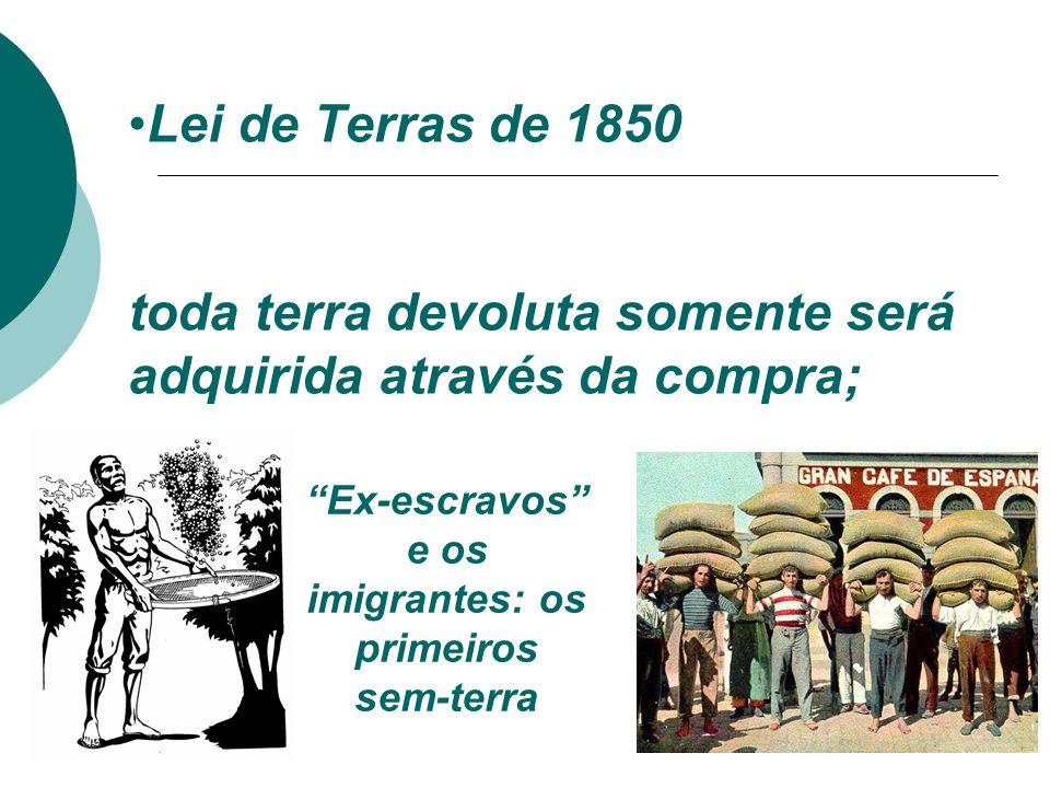 Ex-escravos e os imigrantes: os primeiros sem-terra