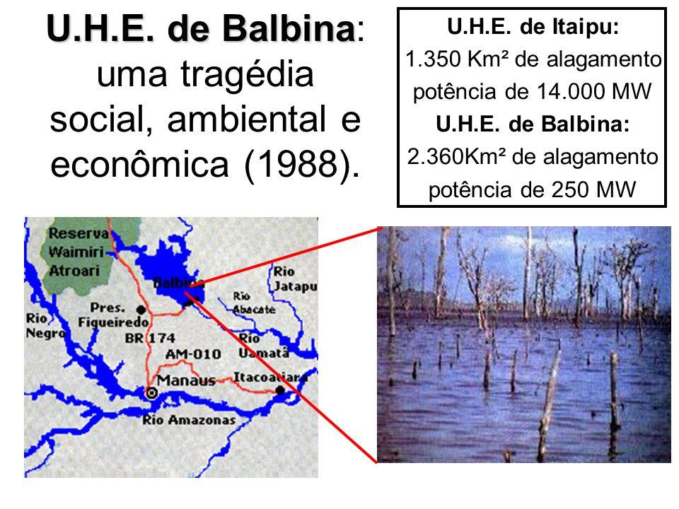 U.H.E. de Balbina: uma tragédia social, ambiental e econômica (1988).