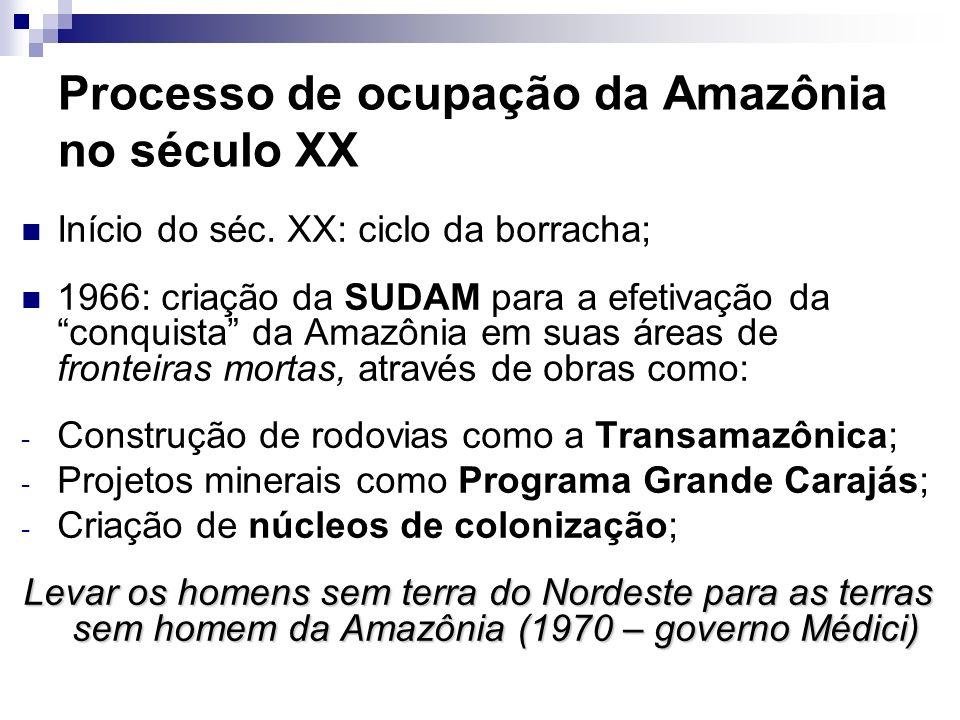 Processo de ocupação da Amazônia no século XX