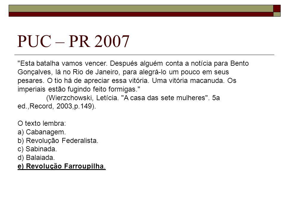 PUC – PR 2007