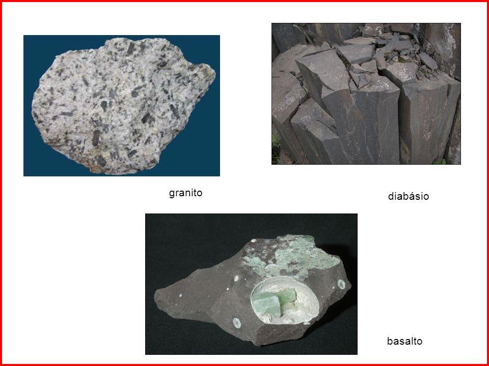 granito diabásio basalto