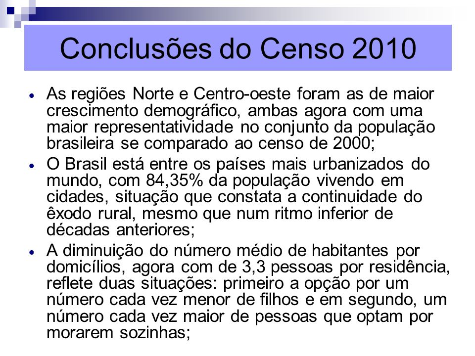 Conclusões do Censo 2010