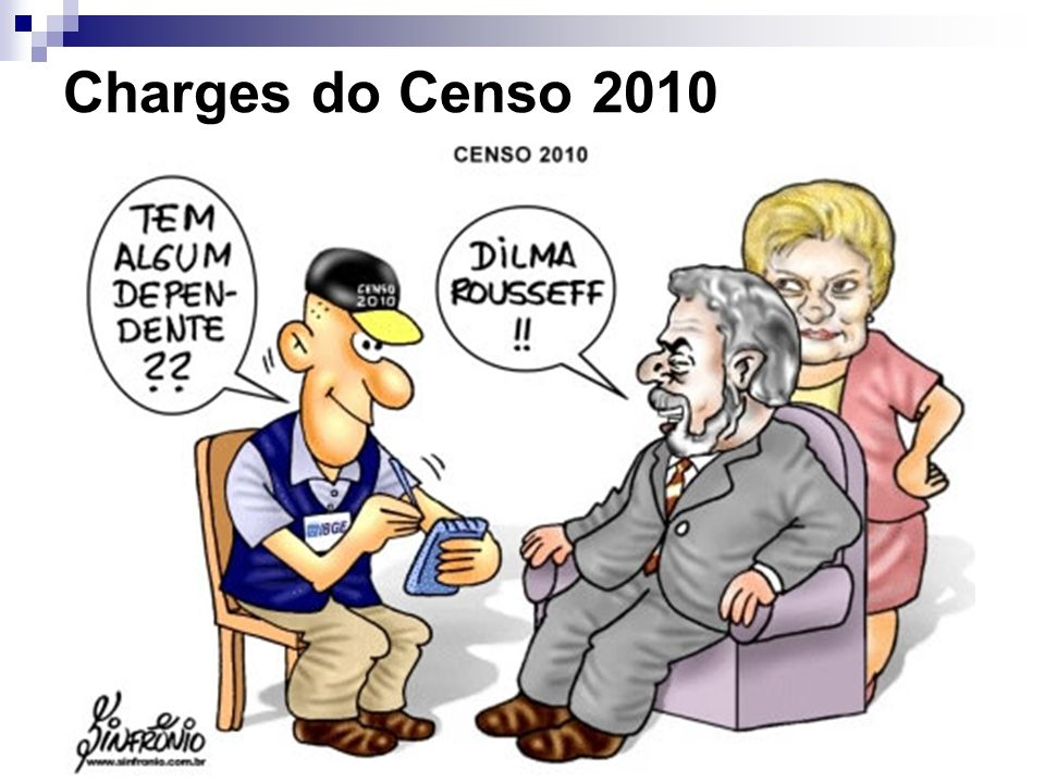 Charges do Censo 2010