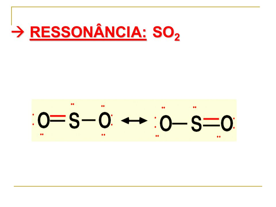  RESSONÂNCIA: SO2