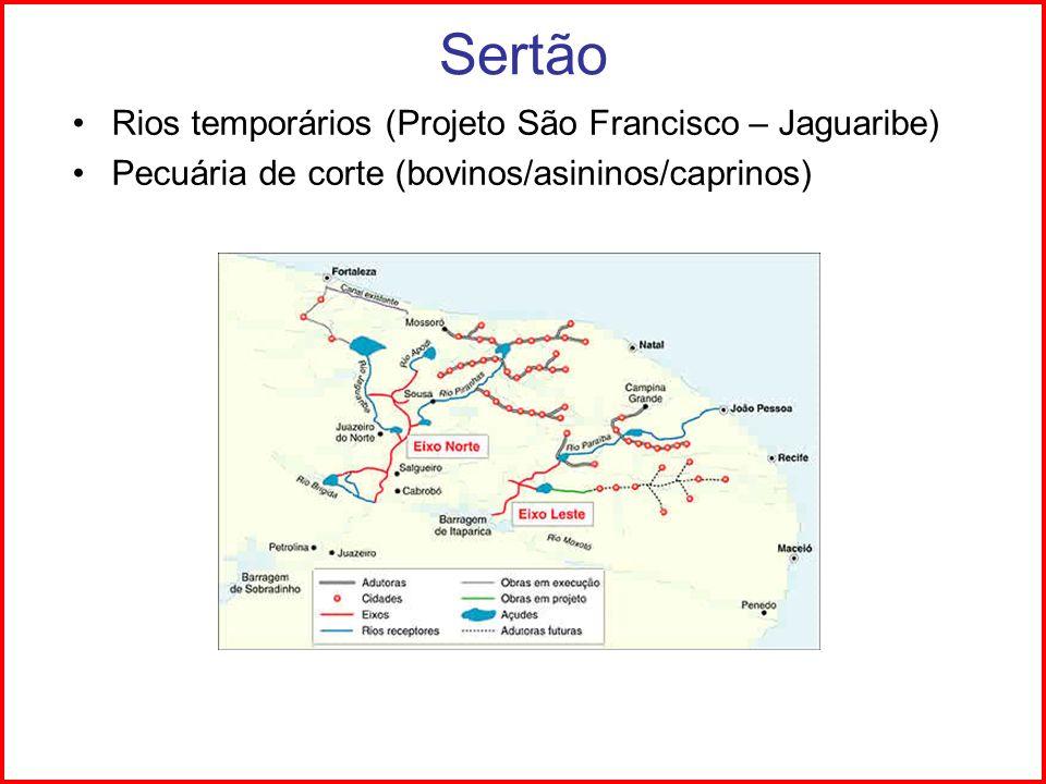 Sertão Rios temporários (Projeto São Francisco – Jaguaribe)