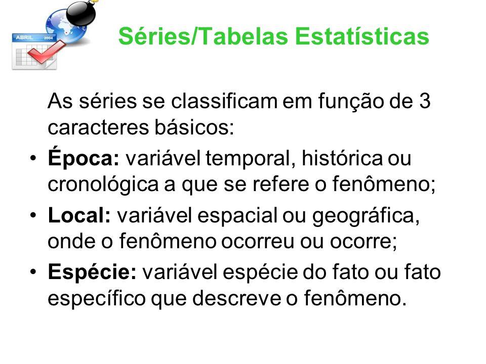 Séries/Tabelas Estatísticas