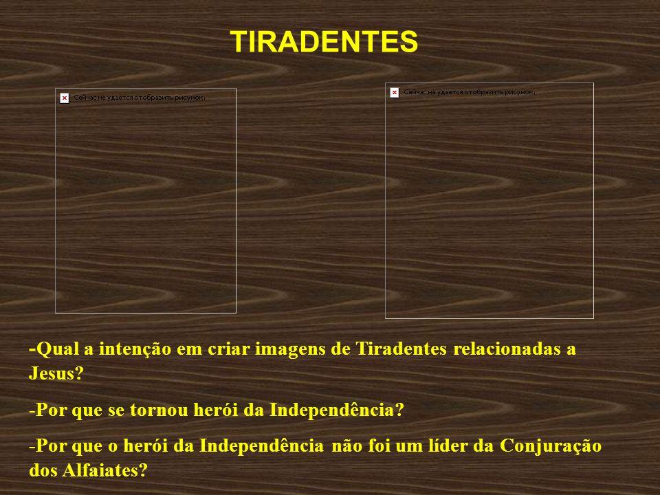 TIRADENTES -Qual a intenção em criar imagens de Tiradentes relacionadas a Jesus Por que se tornou herói da Independência