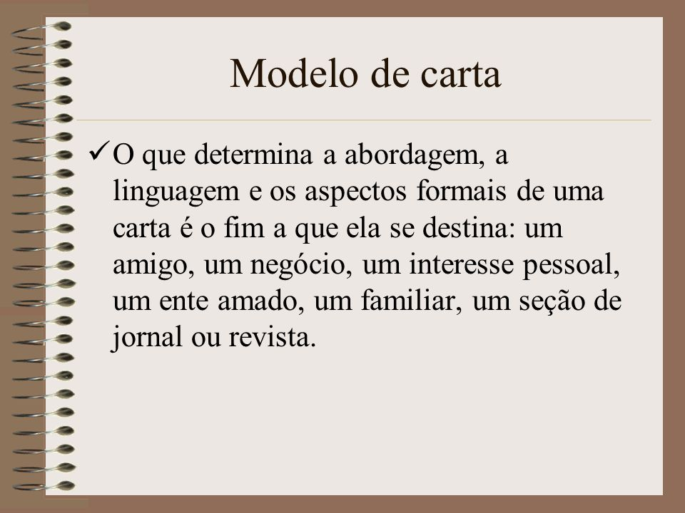 Modelo de carta