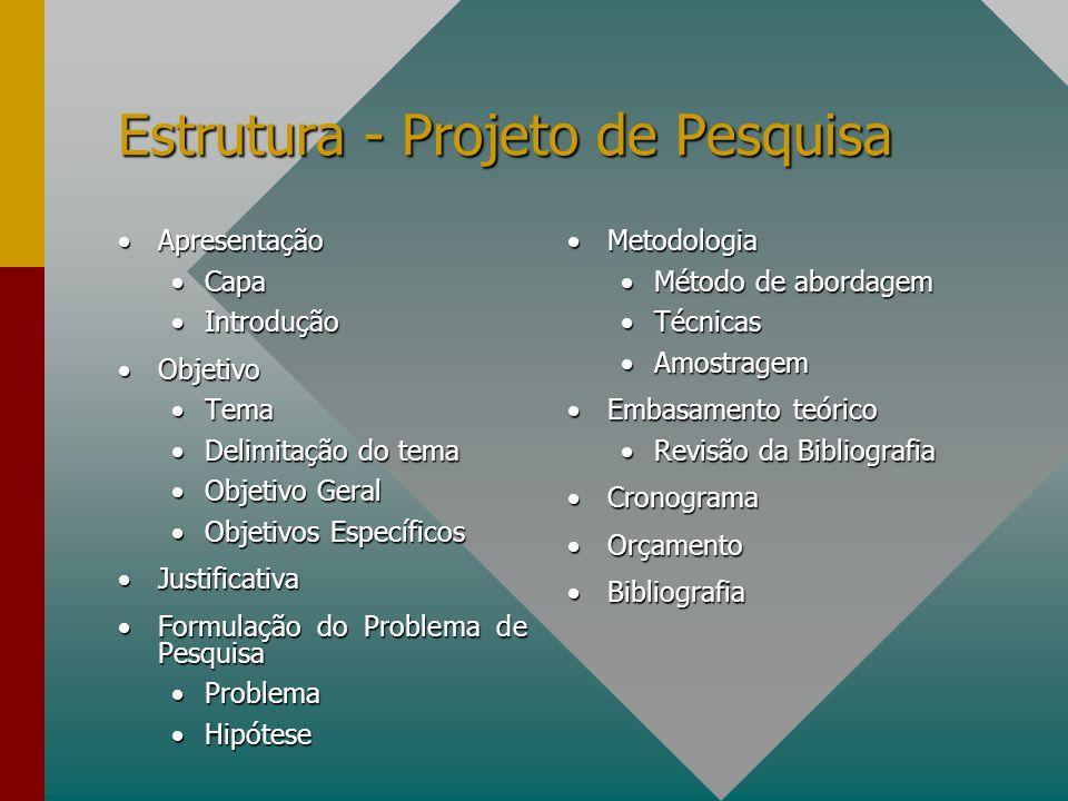 Estrutura - Projeto de Pesquisa