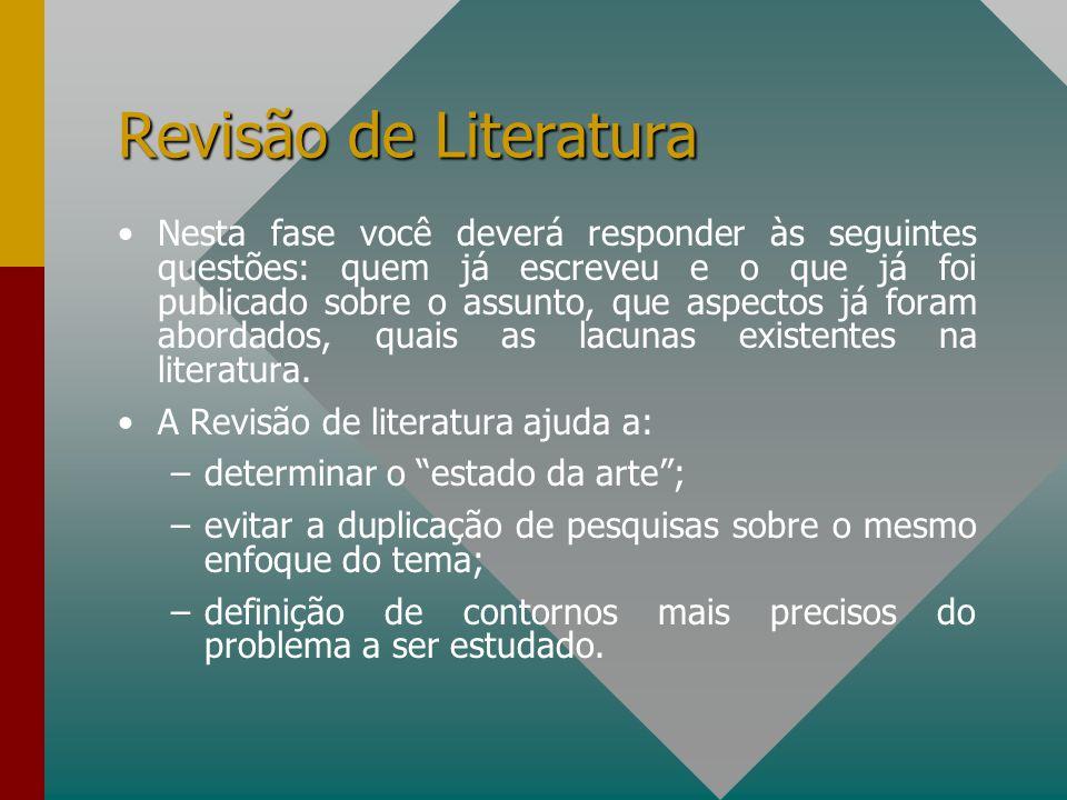 Revisão de Literatura