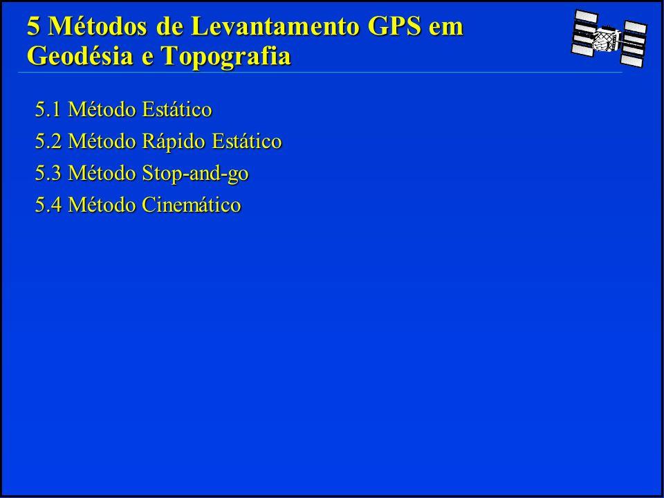 5 Métodos de Levantamento GPS em Geodésia e Topografia