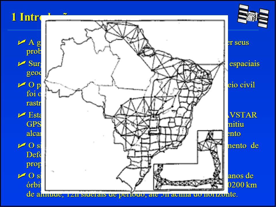 1 Introdução A geodésia utilizava-se de ângulos e distâncias para resolver seus problemas.