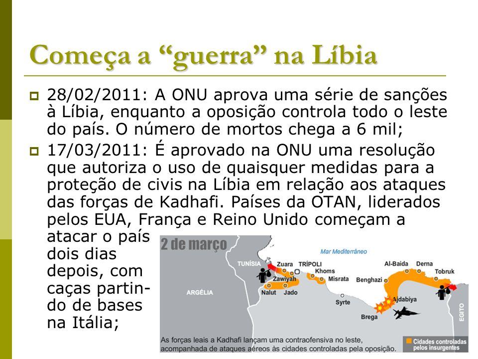 Começa a guerra na Líbia