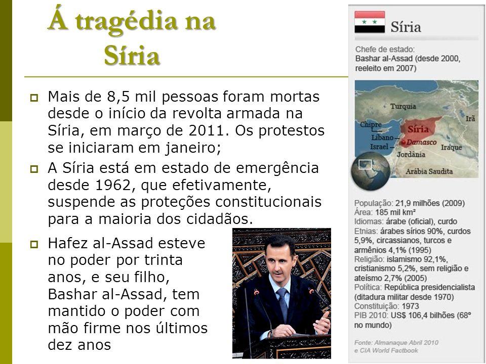 Á tragédia na Síria