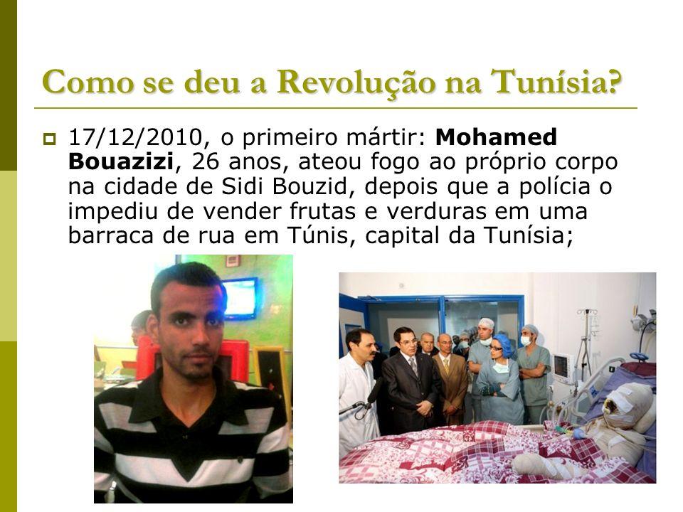 Como se deu a Revolução na Tunísia