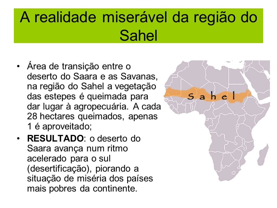 A realidade miserável da região do Sahel