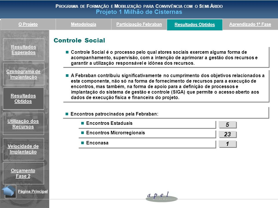 Resultados ObtidosControle Social.