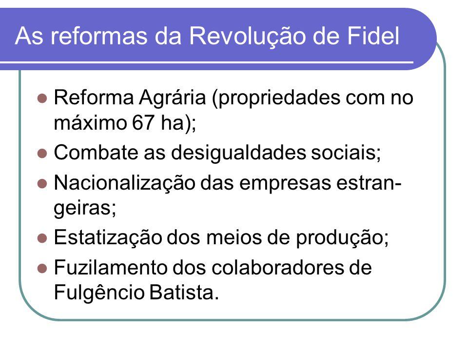 As reformas da Revolução de Fidel