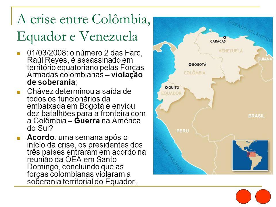 A crise entre Colômbia, Equador e Venezuela