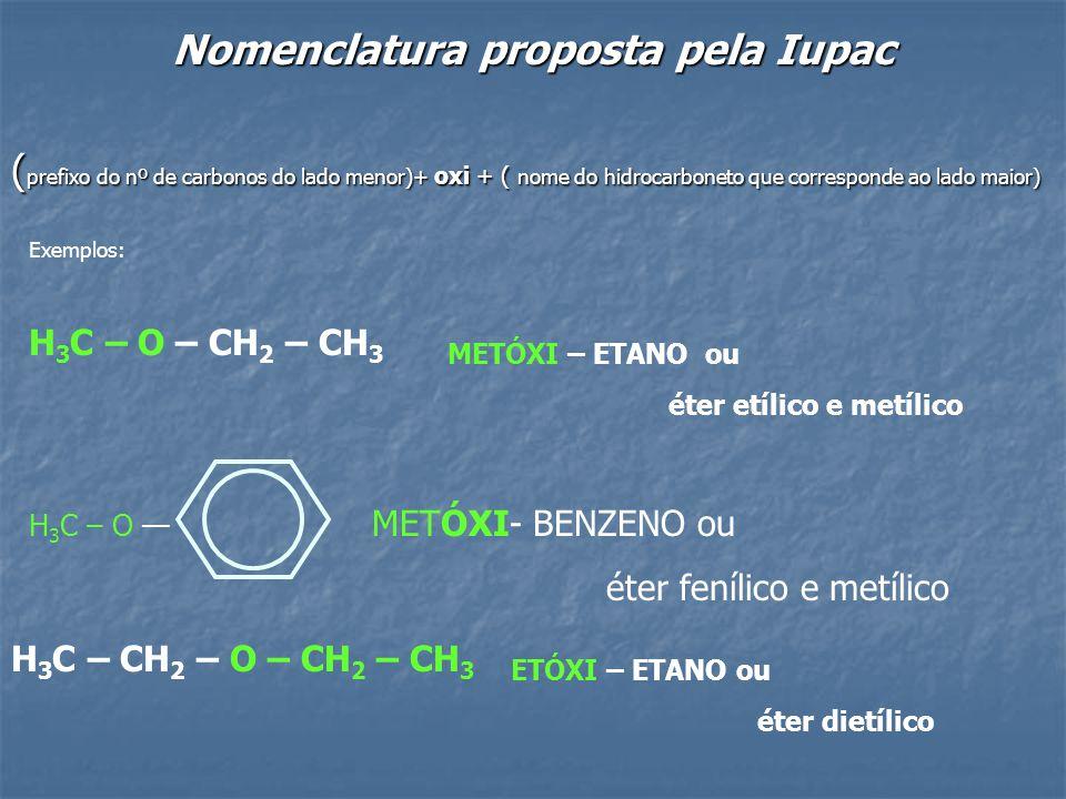 Nomenclatura proposta pela Iupac