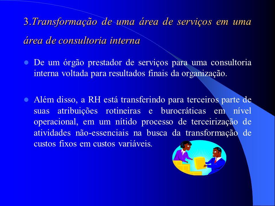 3.Transformação de uma área de serviços em uma área de consultoria interna