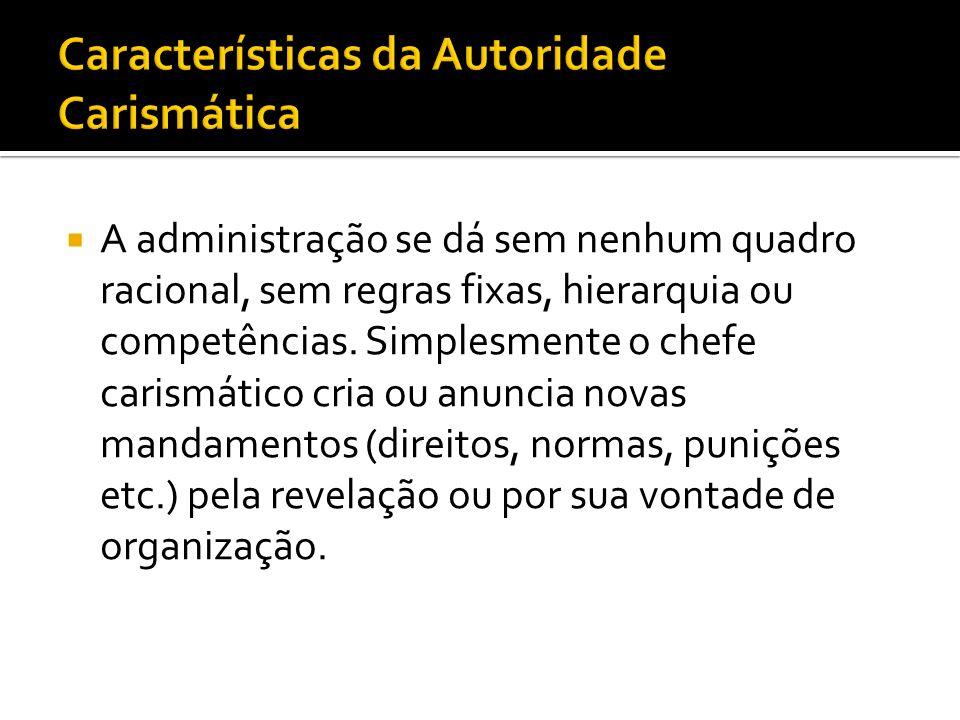 Características da Autoridade Carismática