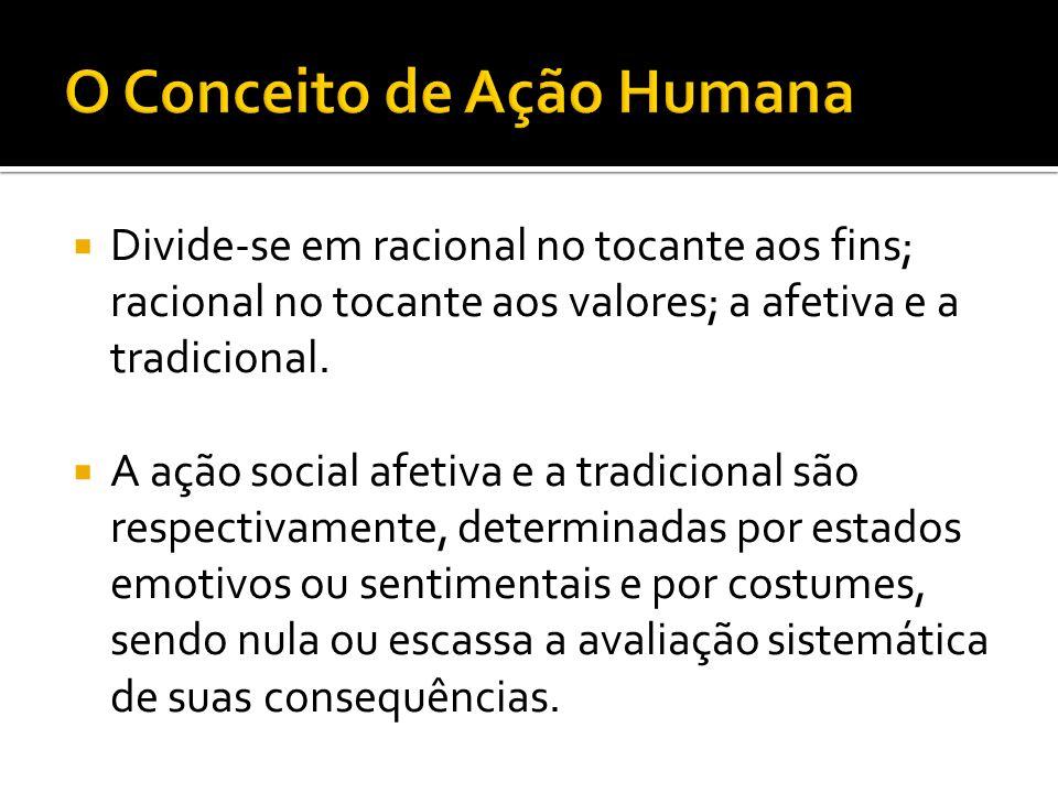 O Conceito de Ação Humana