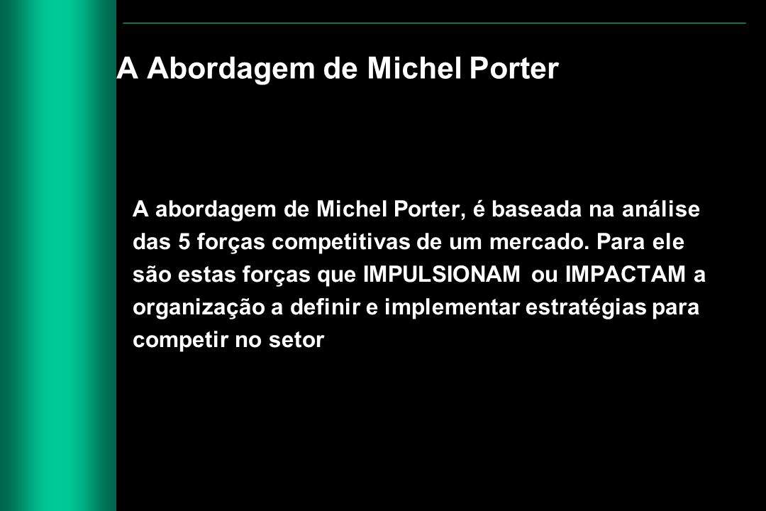 A Abordagem de Michel Porter