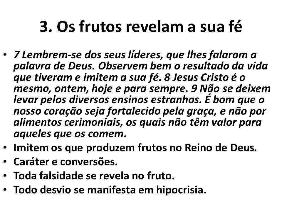 3. Os frutos revelam a sua fé