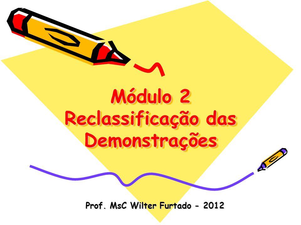 Módulo 2 Reclassificação das Demonstrações