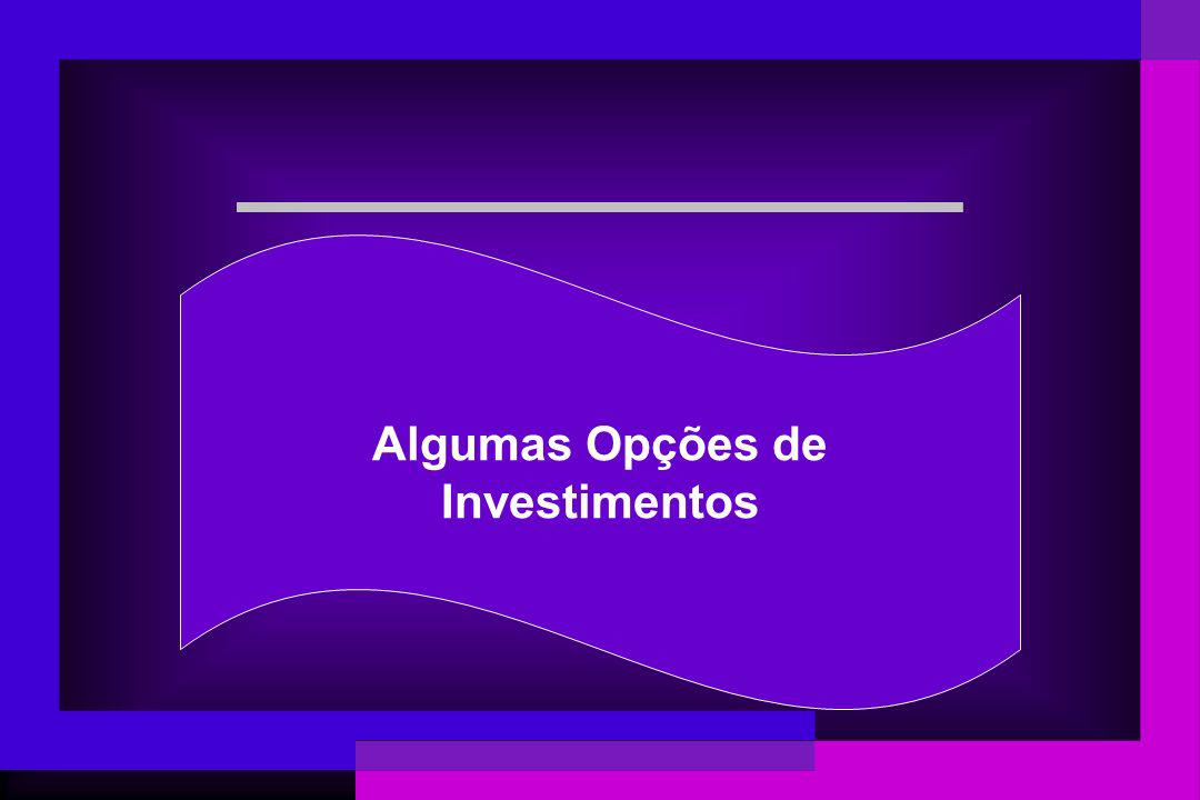 Algumas Opções de Investimentos