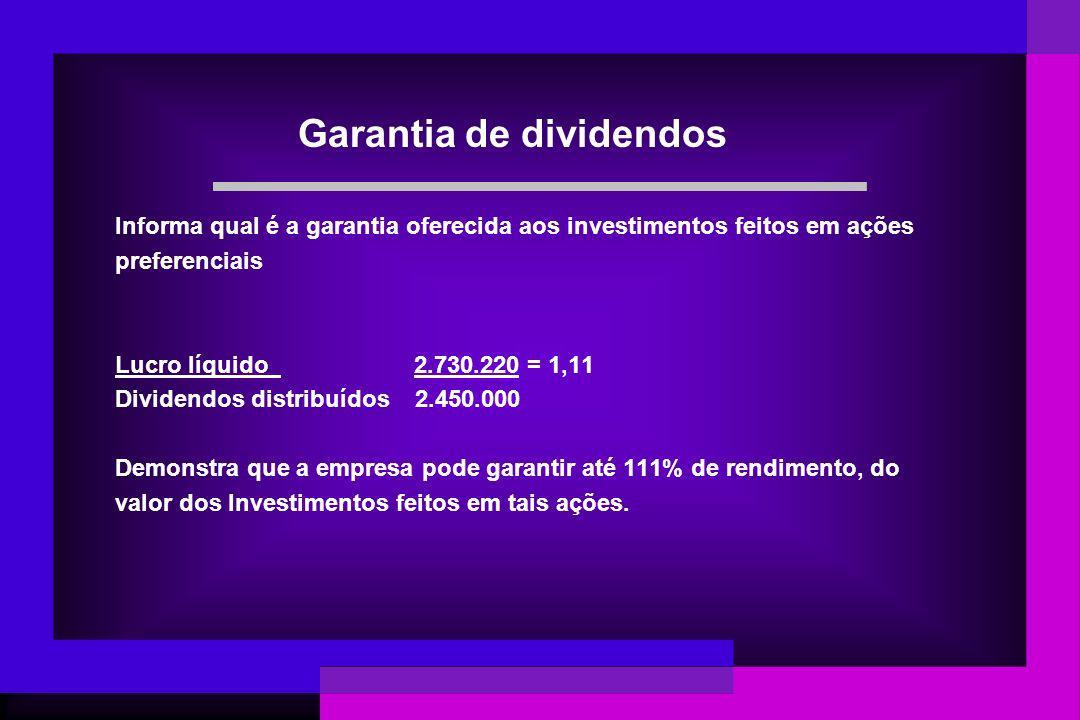 Garantia de dividendos