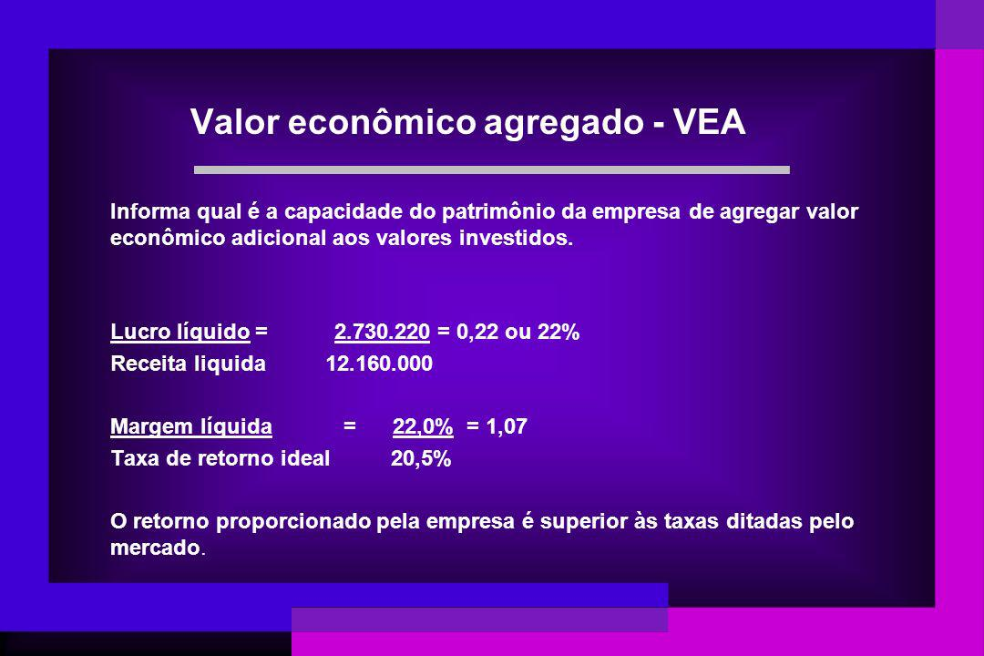 Valor econômico agregado - VEA
