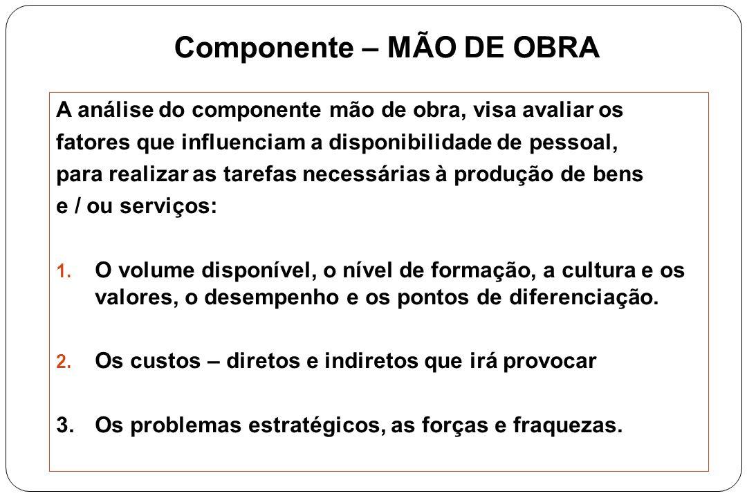Componente – MÃO DE OBRA