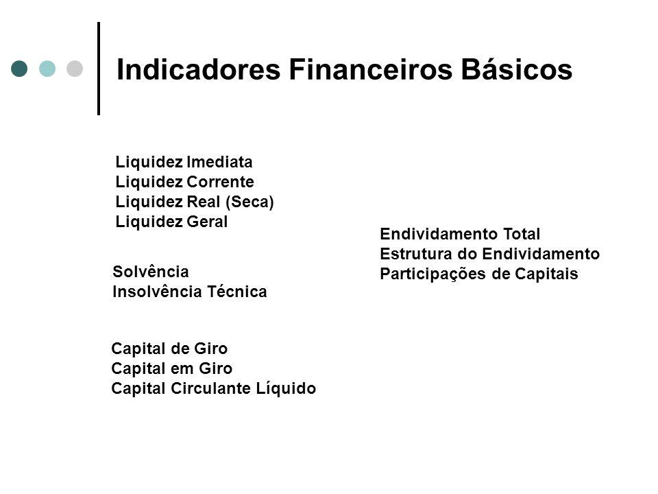 Indicadores Financeiros Básicos