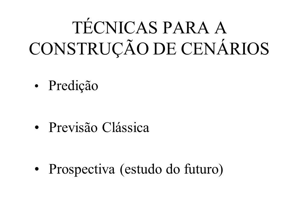 TÉCNICAS PARA A CONSTRUÇÃO DE CENÁRIOS