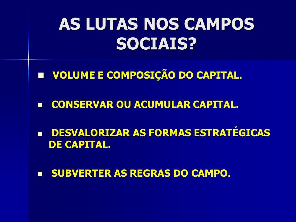 AS LUTAS NOS CAMPOS SOCIAIS